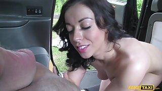 Rebecca in Driver Gets Lucky at Dogging Site - FakeTaxi