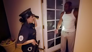 Lucky black guy gets his dick pleased by naughty Lela Star