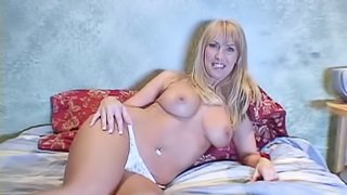 Aroused housewives in nice lingerie and thongs casting their big tits in close up shoot compilation
