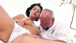Nice old and young sex scene by crazy man and lovely girl