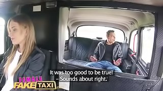 Female Fake Taxi Young stud speed fucks wet shaven czech pussy