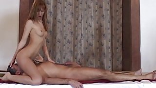 Teen Job interview turns into intimate inspection the boss fucks her