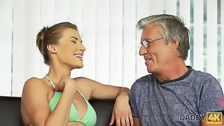DADDY4K. BF was out of house so slut decided to have fun with daddy