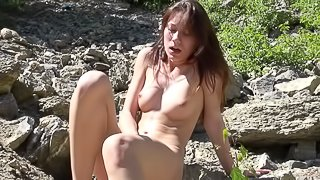 Nela A finds a swimming lake the most perfect place to get naked