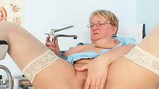 Rough playing by mature nurse