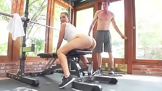 Sports babe gets holes drilled